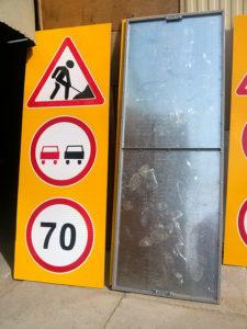 Изготовление дорожного знака