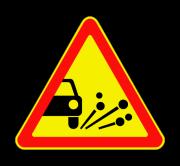 Выброс гравия. Временные дорожные знаки