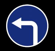 Движение налево. ПРЕДПИСЫВАЮЩИЕ ЗНАКИ
