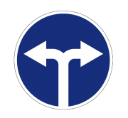 Движение направо или налево. Предписывающие знаки