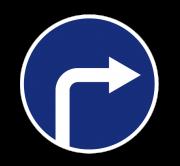 Движение направо. Предписывающие знаки