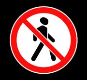 Движение пешеходов запрещено. Запрещающие знаки