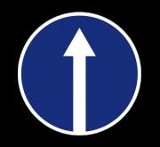 Движение прямо. Предписывающие знаки