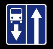 Дорога с полосой для маршрутных транспортных средств. Знаки особых предписаний