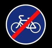 Конец велосипедной дорожки. Предписывающие знаки