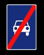 Конец дороги для автомобилей. Знаки особых предписаний