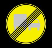 Конец зоны запрещения обгона грузовым автомобилям. Временные дорожные знаки