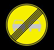 Конец зоны запрещения обгона. Временные дорожные знаки
