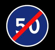 Конец зоны ограничения минимальной скорости. Предписывающие знаки