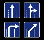 Направления движения по полосам. Знаки особых предписаний