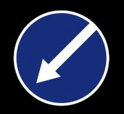 Объезд препятствия слева. Предписывающие знаки