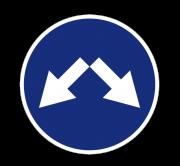 Объезд препятствия справа или слева. Предписывающие знаки