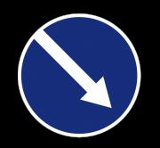 Объезд препятствия справа. Предписывающие знаки