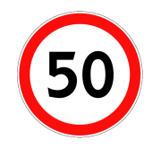 Ограничение максимальной скорости. Запрещающие знаки