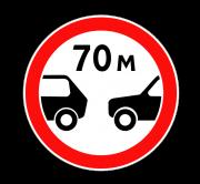 Ограничение минимальной дистанции. Запрещающие знаки