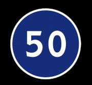 Ограничение минимальной скорости. Предписывающие знаки