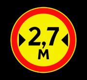 Ограничение ширины. Временные дорожные знаки