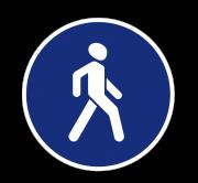 Пешеходная дорожка. Предписывающие знаки