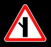Примыкание второстепенной дороги. Знаки приоритета