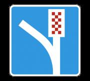 Полоса аварийной остановки. Информационные знаки
