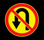 Разворот запрещен. Временные дорожные знаки