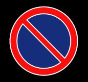 Стоянка запрещена. Запрещающие знаки
