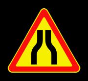 Сужение дороги. Временные дорожные знаки