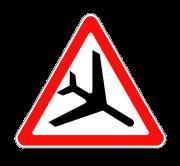 Низколетящие самолеты. ПРЕДУПРЕЖДАЮЩИЕ ЗНАКИ