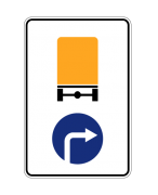 Направление движения транспортных средств с опасными грузами. Предписывающие знаки