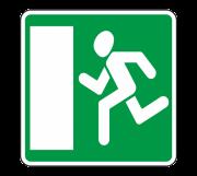 Аварийный выход. Информационные знаки