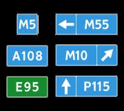 Номер маршрута. Информационные знаки