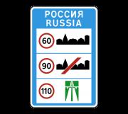 Общие ограничения максимальной скорости. Информационные знаки