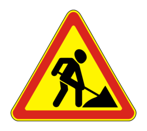 Временные дорожные знаки (на желтом фоне)
